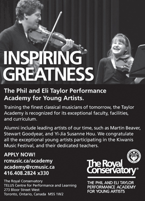 The Royal Conservatory: The Phil and Eli Taylor Performance Academy for Young Artists