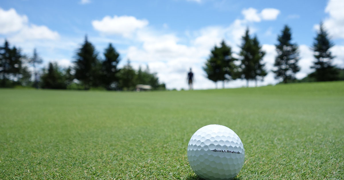 Golf Ball on a Course